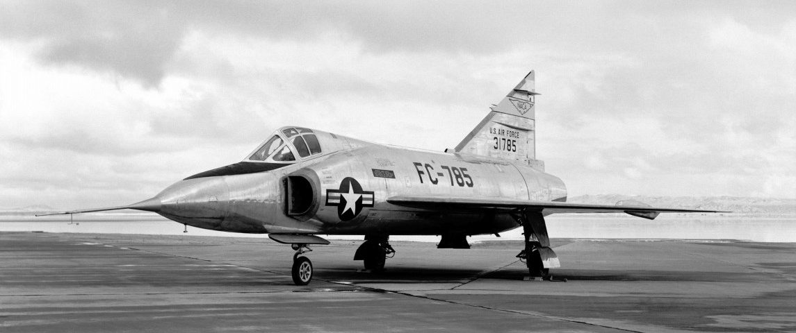 Convair YF-102 on ramp